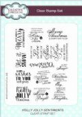 Creative Expressions - Holly Jolly Sentiments A5 Clear Stamp Set - CEC771